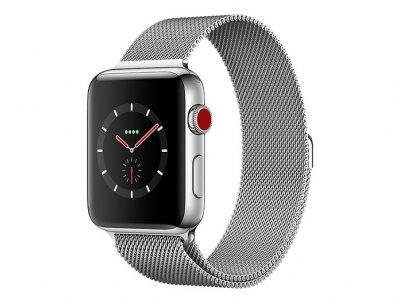 اپل واچ سری 3 مدل Apple Watch 42mm GPS+Cellular Stainless Steel Case Milanese Loop