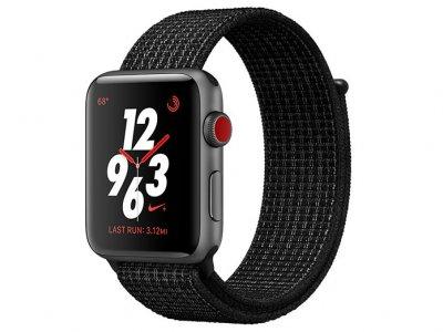اپل واچ سری 3 مدل Apple Watch 38mm GPS+Cellular Space Gray Aluminum Case Black/Pure Platinum Nike Sport Loop