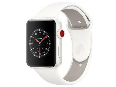 اپل واچ سری 3 مدل Apple Watch Edition 38mm GPS+Cellular White Ceramic Case Soft White/Pebble Sport Band