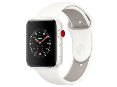 اپل واچ سری 3 مدل Apple Watch Edition 42mm GPS+Cellular White Ceramic Case Soft White/Pebble Sport Band