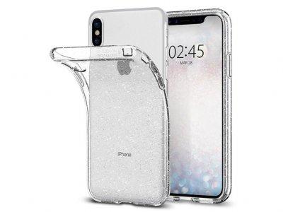 محافظ ژله ای اسپیگن آیفون Spigen Liquid Crystal Glitter Case Apple iPhone X