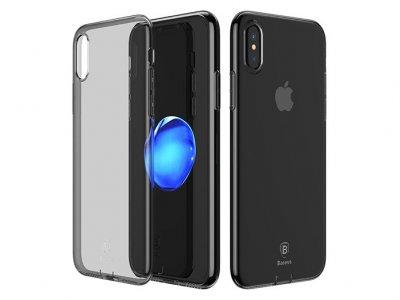 محافظ ژله ای بیسوس آیفون Baseus Simple Series Ultra Slim With Pluggy Case Apple iPhone X