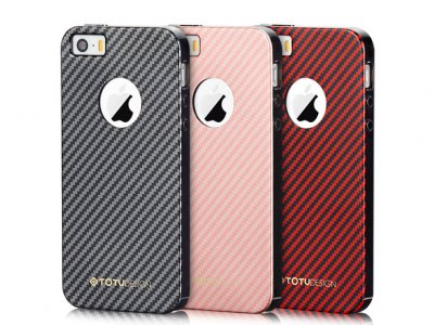 قاب محافظ توتو دیزاین آیفون Totu Design Carbon Fibre Case iPhone 5/5S/SE