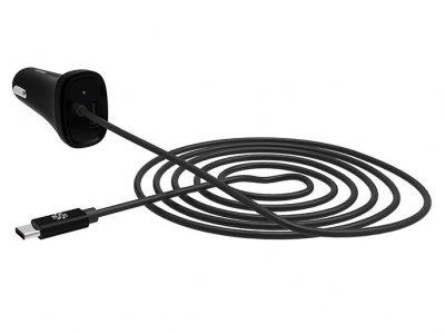 شارژر فندکی و کابل شارژ تایپ سی کنکس Kanex USB-C Car Charger 1.2m