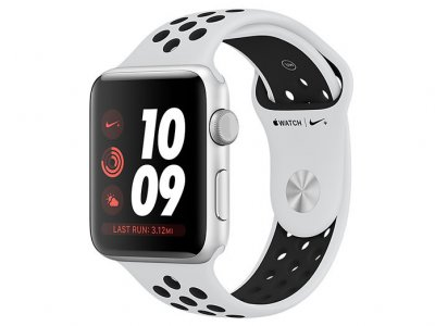 اپل واچ سری 3 مدل Apple Watch 42mm GPS Silver Aluminum Case Pure Platinum/Black Nike Sport Band