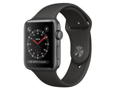 اپل واچ سری 3 مدل Apple Watch 38mm GPS Space Gray Aluminum Case Gray Sport Band