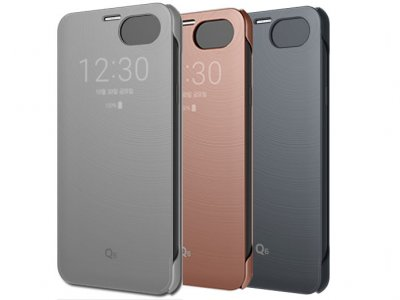 کیف اصلی ال جی Voia CleanUp Window Quick Cover Case LG Q6