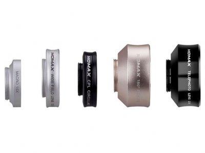لنز فیش آی و واید و ماکرو و سی پی ال و تله فوتو گوشی موبایل مومکس Momax 5 in1 Superior Lens Set