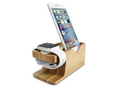 استند و نگهدارنده آیفون و اپل واچ Spigen Apple Watch & iPhone Stand S370