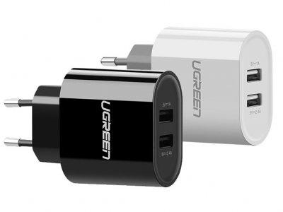 شارژر دیواری دو پورت یوگرین Ugreen CD104 USB Wall Charger 2 Ports