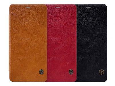 کیف چرمی نیلکین سامسونگ Nillkin Qin Leather Case Samsung Galaxy A8 Plus 2018