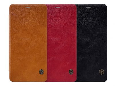 کیف چرمی نیلکین سامسونگ Nillkin Qin Leather Case Samsung Galaxy A8 2018