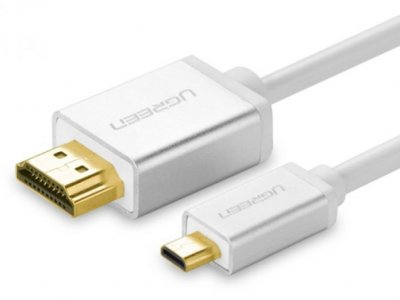 کابل تبدیل میکرو اچ دی ام آی به اچ دی ام آی یوگرین 19+1 Ugreen HD109 Micro HDMI To HDMI Cable 1.4V Full Copper 1.5m