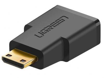 مبدل مینی اچ دی ام آی به اچ دی ام آی یوگرین Ugreen 20101 Mini HDMI Male To HDMI Female Adapter