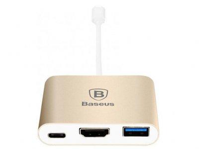 هاب آداپتور تایپ سی به اچ دی ام آی بیسوس Baseus Sharp Series Type-C To HDMI+HUB Adapter For Macbook