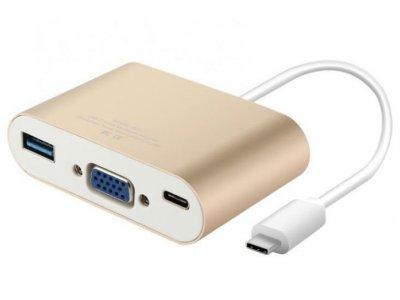 هاب آداپتور تایپ سی به وی جی ای بیسوس Baseus Sharp Series Type-C To VGA+HUB Adapter For Macbook