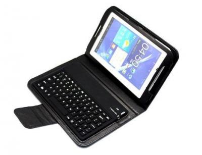 """کیف چرمی کیبورد دار Samsung Galaxy Tab 3 7"""" T211"""