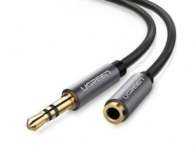کابل افزایش طول صدا یوگرین Ugreen AV118 10778 3.5mm Male To 3.5mm Female Extension Cable 5M