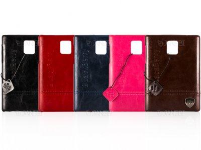 قاب محافظ چرمی بلک بری BlackBerry Passport Leather Case