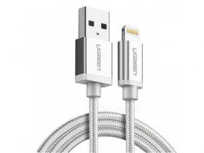 کابل شارژ و انتقال داده لایتنینگ یوگرین Ugreen US199 30584 Lightning to USB Cable 1M