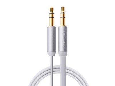 کابل انتقال صدا یوگرین Ugreen AV119 10721 3.5mm Male to Male Flat Cable 1.5M