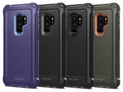 قاب و محافظ صفحه نمایش شیشه ای اسپیگن سامسونگ Spigen Pro Guard Case Samsung Galaxy S9 Plus