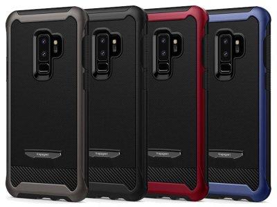 قاب و محافظ صفحه نمایش شیشه ای اسپیگن سامسونگ Spigen Reventon Case Samsung Galaxy S9 Plus