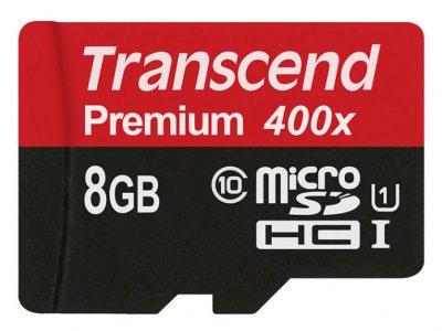 رم میکرو اس دی 8 گیگابایت ترنسند Transcend 8GB microSD Premium 400X Class 10