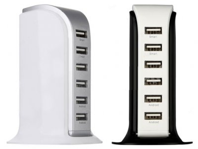 پاور هاب 6 پورت مترانس Metrans Energy Series 8A 6 Ports USB Charger Adapter