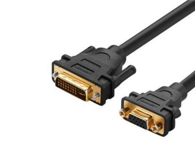 مبدل دی وی آی به وی جی ای یوگرین Ugreen 30499 DVI 24+5 Male To VGA Female Converter 15CM