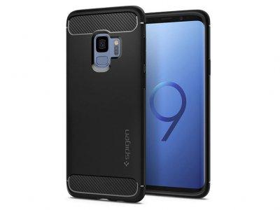 محافظ ژله ای اسپیگن سامسونگ Spigen Rugged Armor Case Samsung Galaxy S9
