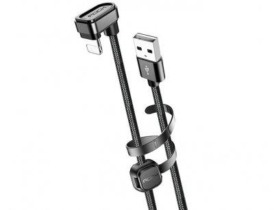 کابل شارژ لایتنینگ راک Rock U-Shaped Metal Lightning Cable 1M