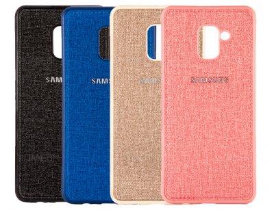 قاب محافظ طرح پارچه ای سامسونگ Protective Cover Samsung Galaxy A8 Plus 2018