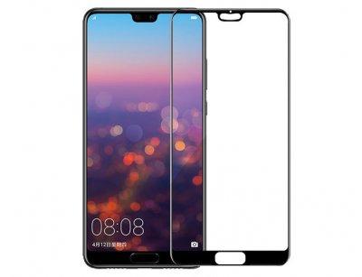 محافظ صفحه نمایش شیشه ای تمام چسب هواوی Full Glass Screen Protector Huawei P20