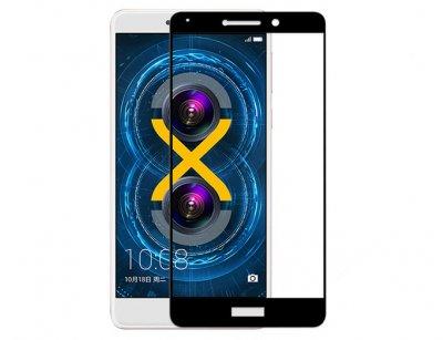 محافظ صفحه نمایش شیشه ای تمام چسب هواوی Full Glass Screen Protector Huawei Honor 6X