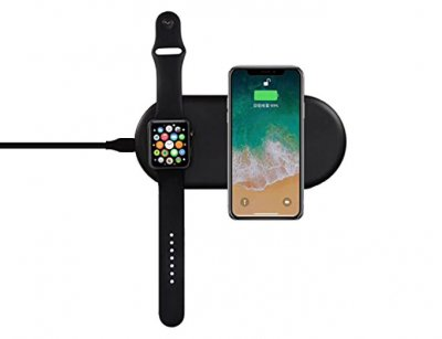 شارژر وایرلس دوتایی گوشی و اپل واچ Coteetci 2 In 1 Wireless Fast Charging