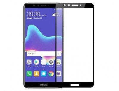 محافظ صفحه نمایش شیشه ای تمام چسب هواوی Full Glass Screen Protector Huawei Y9 2018
