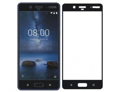 محافظ صفحه نمایش شیشه ای تمام چسب نوکیا Full Glass Screen Protector Nokia 8