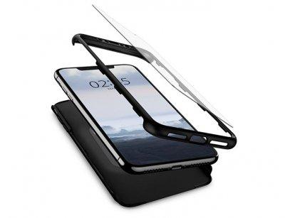 قاب محافظ و محافظ صفحه شیشه ای اسپیگن آیفون Spigen Thin Fit 360 Case Apple iPhone XS