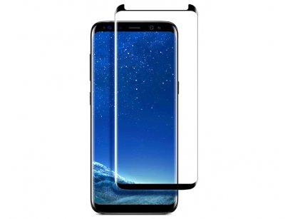 محافظ صفحه نمایش شیشه ای تمام چسب سامسونگ Benovo 3D Glass Samsung Galaxy S8 Plus