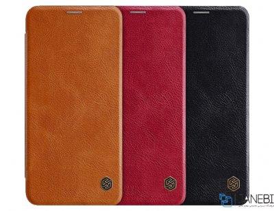 کیف چرمی نیلکین ال جی Nillkin Qin Leather Case LG V40 ThinQ