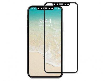 محافظ صفحه نمایش شیشه ای تمام چسب آیفون Full Glass 5D Screen Protector Apple iphone X/XS
