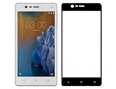 محافظ صفحه نمایش شیشه ای تمام چسب نوکیا Full Glass Screen Protector Nokia 3