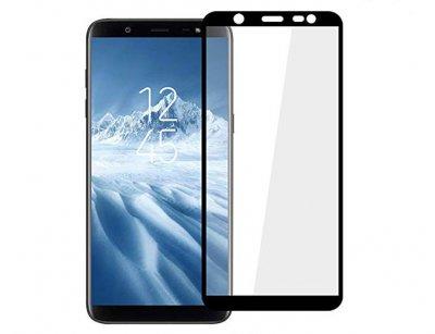 محافظ صفحه نمایش شیشه ای تمام چسب سامسونگ Full Glass Screen Protector Samsung Galaxy J8