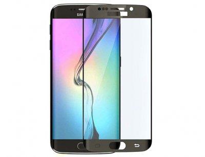 محافظ صفحه نمایش شیشه ای تمام چسب سامسونگ Full Glass Screen Protector Samsung Galaxy S6 Edge