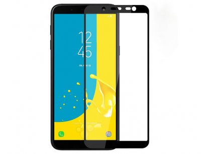 محافظ صفحه نمایش شیشه ای تمام چسب سامسونگ Full Glass Screen Protector Samsung Galaxy J6