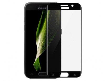 محافظ صفحه نمایش شیشه ای تمام چسب سامسونگ Full Glass Screen Protector Samsung Galaxy A7 2017