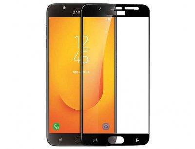 محافظ صفحه نمایش شیشه ای تمام چسب سامسونگ Full Glass Screen Protector Samsung Galaxy J7 Duo