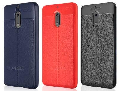 قاب ژله ای طرح چرم نوکیا Becation Auto Focus Case Nokia 6