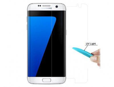 محافظ صفحه نمایش شیشه ای یو وی سامسونگ UV Nano Glass Samsung Galaxy S7 Edge